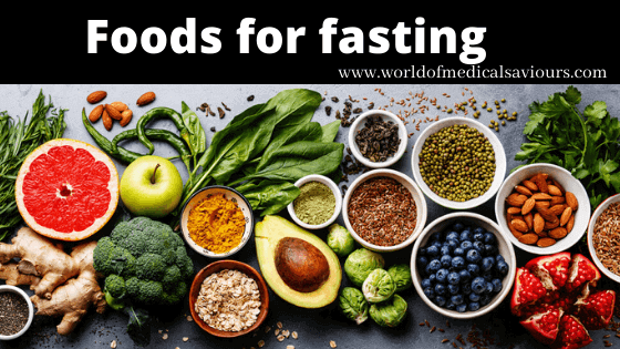 Photo of Foods for fasting